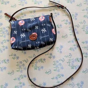 Dooney & Bourke NY Yankees Crossbody Pouchette Bag